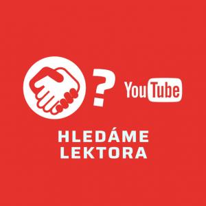 Hledáme lektora - YOUTUBERING