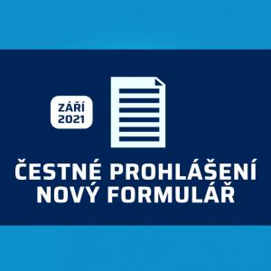 Nové čestné prohlášení 2021